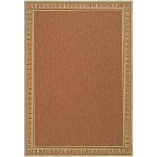 Martha Stewart Byzantium Terracotta/ Beige Indoor/ Outdoor Rug (6' 7 x 9' 6)