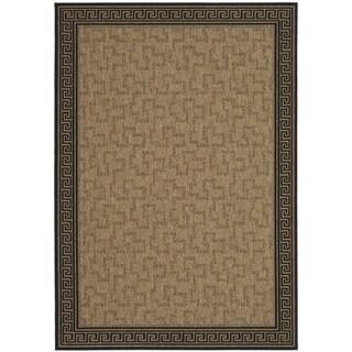 Martha Stewart Byzantium Dark Beige/ Black Indoor/ Outdoor Rug (5' 3 x 7' 7)
