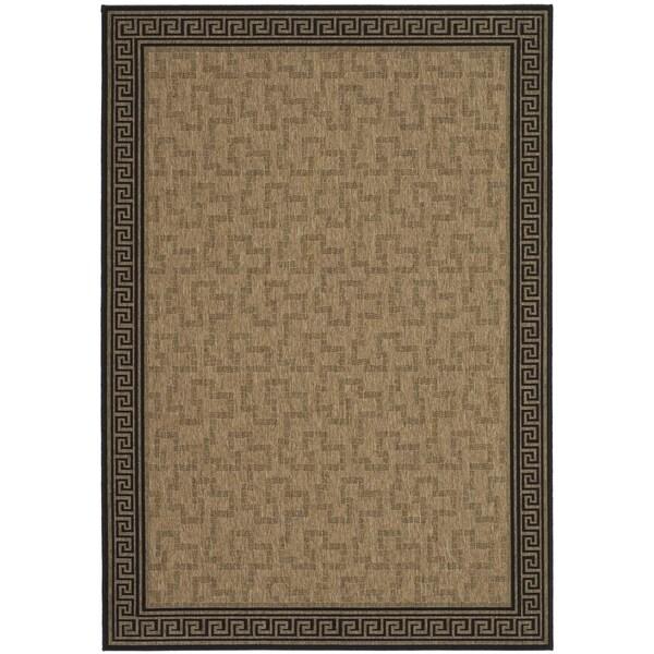 Martha Stewart Byzantium Dark Beige/ Black Indoor/ Outdoor Rug (8' x 11' 2)