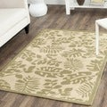Martha Stewart Paradise Cream/ Green Indoor/ Outdoor Rug (6' 7 x 9' 6)