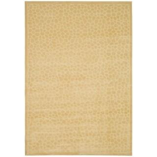 Martha Stewart Reptilian Cream Viscose Rug (8' x 11' 2)