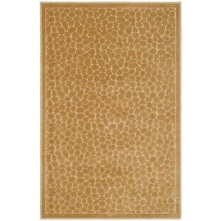 Martha Stewart Reptilian Taupe Viscose Rug (2' 7 x 4')