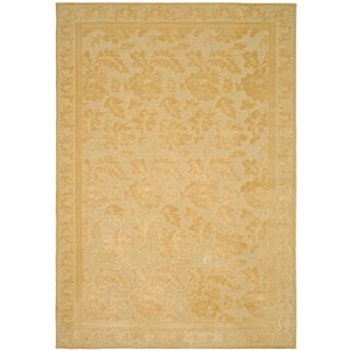 Martha Stewart Peony Damask Cream Viscsoe Rug (4' x 5' 7)