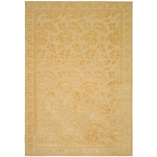 Martha Stewart Peony Damask Cream Viscose Rug (5' 3 x 7' 6)