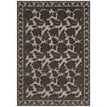 Martha Stewart Peony Damask Light Brown Viscose Rug (8' x 11' 2)