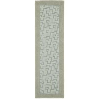 Martha Stewart Byzantium Rainwater Wool Rug (2' 3 x 8')
