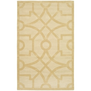 Martha Stewart Fretwork Gravel Wool Rug (5' x 8')