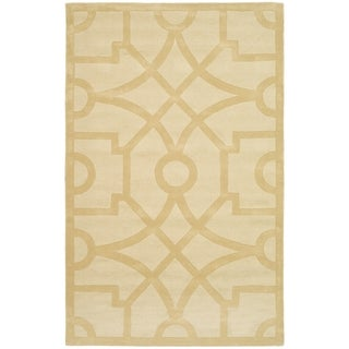 Martha Stewart Fretwork Gravel Wool Rug (9' x 12')