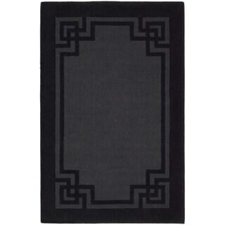 Martha Stewart Deco Frame Phantom Wool Rug (5' x 8')