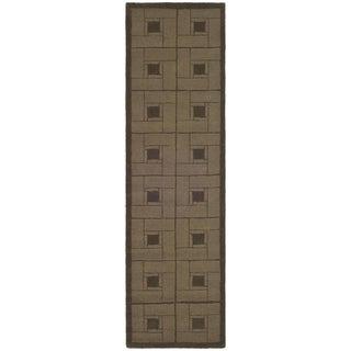 Martha Stewart Square Knot Bay Colt Wool Rug (2' 3 x 8')