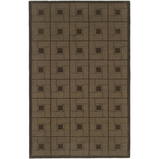 Martha Stewart Square Knot Bay Colt Wool Rug (4' x 6')