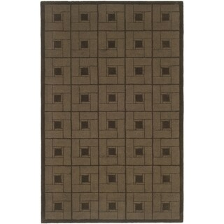 Martha Stewart Square Knot Bay Colt Wool Rug (5' x 8')