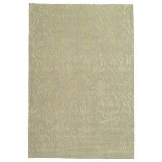 Martha Stewart Seaflora Shell Silk and Wool Rug (7' 9 x 9' 9)