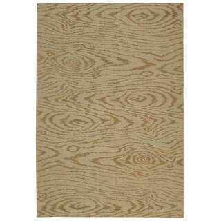 Martha Stewart Faux Bois Driftwood Silk/ Wool Rug (5' 6 x 8' 6)