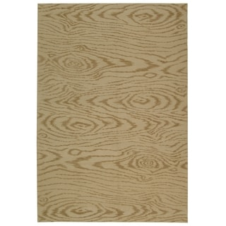 Martha Stewart Faux Bois Driftwood Silk and Wool Rug (8' 6 x 11' 6)