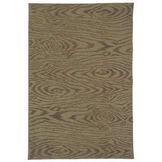 Martha Stewart Faux Bois Truffle Silk and Wool Rug (3' 9 x 5' 9)