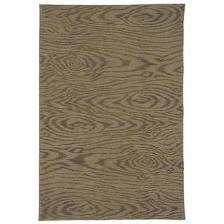 Martha Stewart Faux Bois Truffle Silk and Wool Rug (5' 6 x 8' 6)