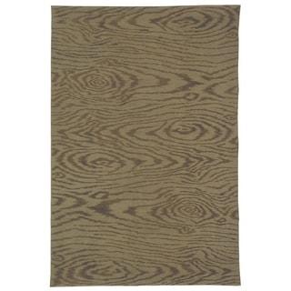 Martha Stewart Faux Bois Truffle Silk and Wool Rug (5' 6 x 8' 6)