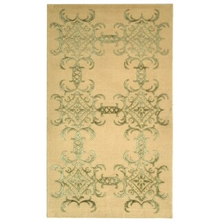 Martha Stewart Tracery Birch Silk/ Wool Rug (5' 6 x 8' 6)