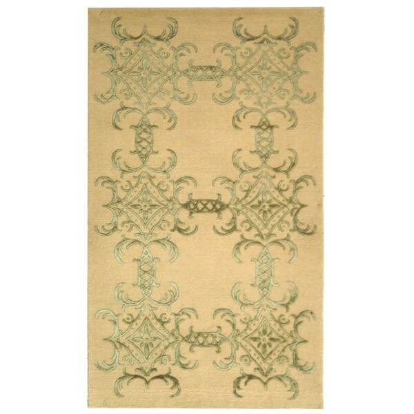 Martha Stewart Tracery Birch Silk/ Wool Rug (8' 6 x 11' 6)