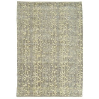 Martha Stewart Tendrils Midnight Wool Rug (6' x 9')