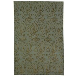 Martha Stewart Seaflora Sea Glass Silk/ Wool Rug (7' 9 x 9' 9)