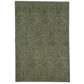 Martha Stewart Seaflora Sea Glass Silk/ Wool Rug (8' 6 x 11' 6)
