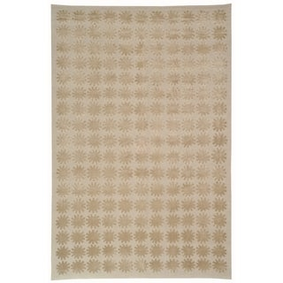 Martha Stewart Constellation Day/ Break Silk/ Wool Rug (9' 6 x 13' 6)