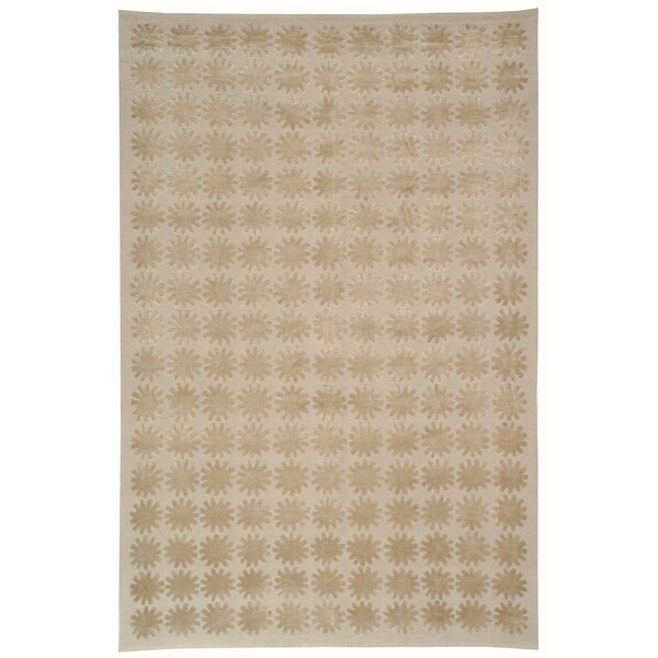 Martha Stewart Constellation Day/ Break Silk/ Wool Rug (5' 6 x 8' 6)