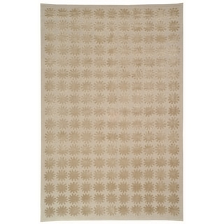 Martha Stewart Constellation Day/ Break Silk/ Wool Rug (7' 9 x 9' 9)