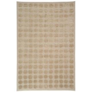 Martha Stewart Constellation Day/ Break Silk/ Wool Rug (7' 9 x 9' 9)