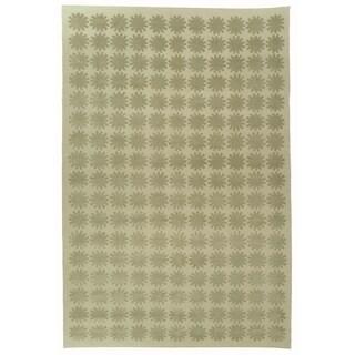 Martha Stewart Constellation Neptune Silk/ Wool Rug (7' 9 x 9' 9)