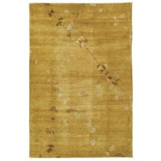 Martha Stewart Trellis Amber Wool Rug (5' 6 x 8' 6)