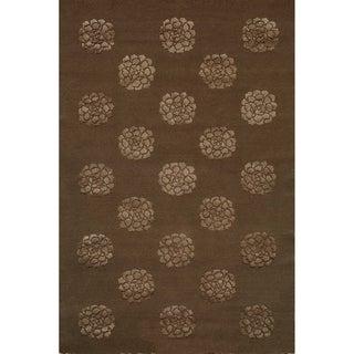 Martha Stewart Medallions Onyx Silk and Wool Rug (3' 9 x 5' 9)