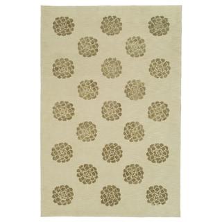 Martha Stewart Medallions Agate Silk/ Wool Rug (5' 6 x 8' 6)