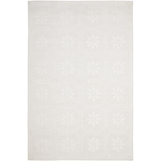 Martha Stewart Daisy Square White Linen Rug (9' x 12')