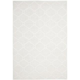 Martha Stewart Piazza White Linen Rug (6' x 9')