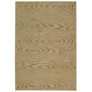 Martha Stewart Faux Bois Driftwood Silk/ Wool Rug (3' 9 x 5' 9)