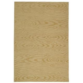 Martha Stewart Faux Bois Pinenut Silk/ Wool Rug (3' 9 x 5' 9)