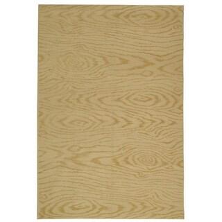 Martha Stewart Faux Bois Pinenut Silk/ Wool Rug (7' 9 x 9' 9)