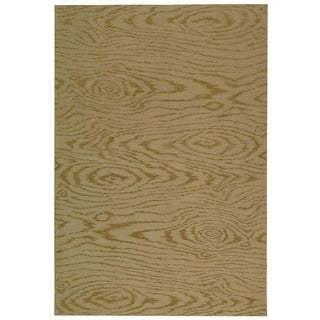 Martha Stewart Faux Bois Lichen Silk and Wool Rug (3' 9 x 5' 9)