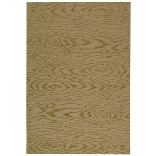 Martha Stewart Faux Bois Lichen Silk/ Wool Rug (5' 6 x 8' 6)
