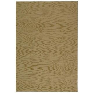 Martha Stewart Faux Bois Lichen Silk/ Wool Rug (8' 6 x 11' 6)