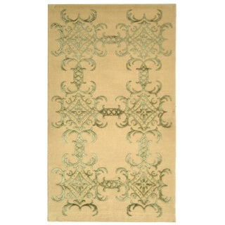 Martha Stewart Tracery Birch Silk/ Wool Rug (9' 6 x 13' 6)
