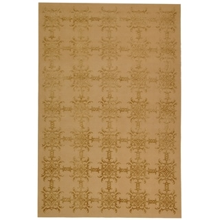 Martha Stewart Tracery Pecan Silk and Wool Rug (5' 6 x 8' 6)