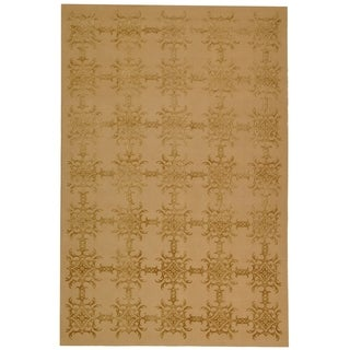 Martha Stewart Tracery Pecan Silk and Wool Rug (8' 6 x 11' 6)