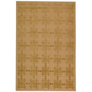 Martha Stewart Tracery Pecan Silk and Wool Rug (8' 6 x 11' 6)