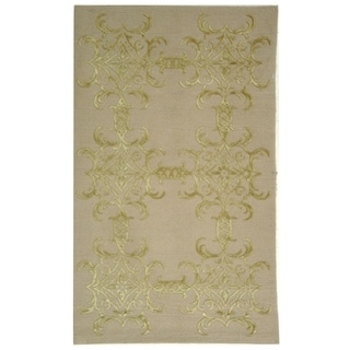 Martha Stewart Tracery Crystal Silk and Wool Rug (8' 6 x 11' 6)