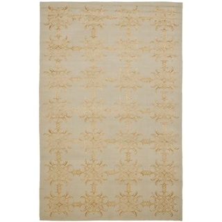 Martha Stewart Tracery Grey/ Beige Silk and Wool Rug (8' 6 x 11' 6)