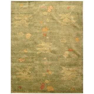 Martha Stewart Kimono Edamame Wool Rug (9' x 12')